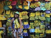 V Brazílii můžete do barev domácí fotbalové reprezentace obléknout i malé děti....
