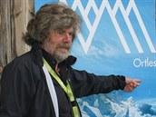Messner představuje podzemní muzeum Ortles.