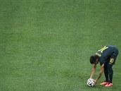 JSEM NA ŘADĚ. Brazilský útočník Neymar piluje trestné kopy.