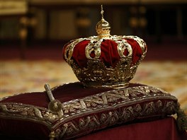 �pan�lsk� koruna p�i proklamaci na hlav� nov�ho monarchy nespo�inula (19....