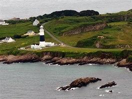 Maják na severo-západním pobřeží Alderney