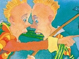 Ilustrace Michaela Foremana z knihy Pohádky k neuvěření, které napsal Monty