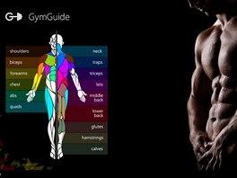 Aplikace Gym Guide pro Windows 8 vás provede posilováním všech částí těla.