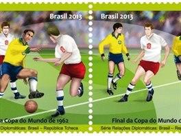 Známka k finále fotbalového MS 1962