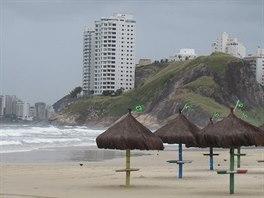 Pláž v Guarujá.
