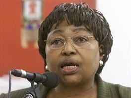 Ministryně zdravotnictví JAR, Dr. Manto Tshabalala-Msimangov, získala lékařské...