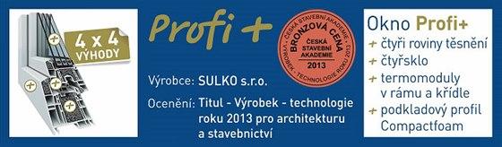 V sout�i V�robek � technologie roku 2013 z�skala okna Profi + bronzovou cenu...
