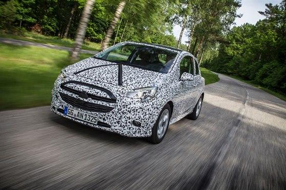 Nový Opel Corsa při testech