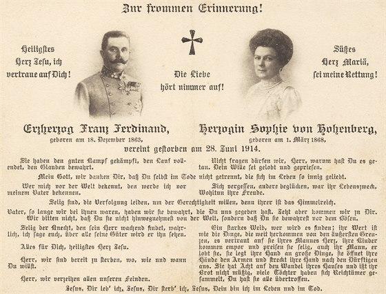 Parte Franti�ka Ferdinanda d�Este a jeho �eny �ofie Chotkov�