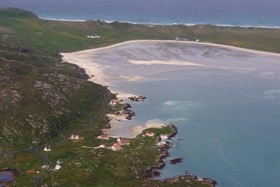 Letiště Barra, ostrov Barra, Vnější Hebridy. Jediné letiště na světě, kde...