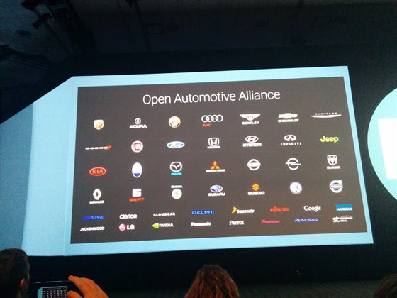 Automobilky, které se přidaly do aliance spolu se společností Google.