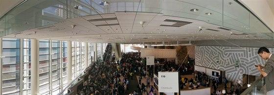 Vývojářská konference I/O v prostorách Moscone Center.
