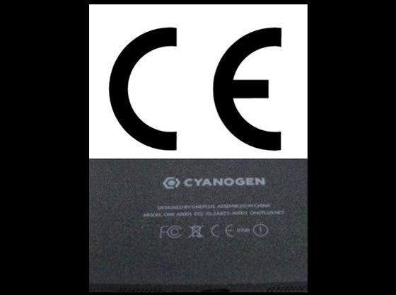 Značka CE na smartphonu OnePlus One