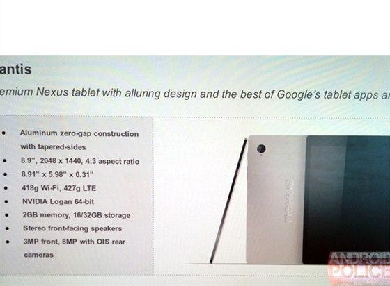Parametry tabletu HTC Volantis (Nexus 9)