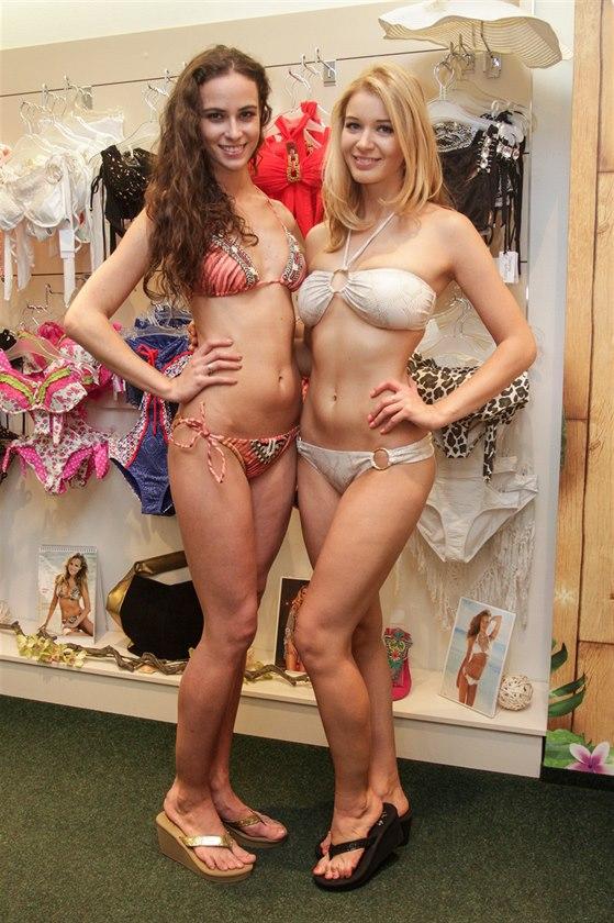�esk� Miss World 2014 Tereza Skoumalov� a �esk� Miss 2014 Gabriela Frankov�