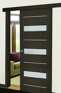 Posuvné dveře - skromné na prostor, troufalé designem