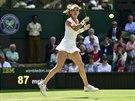 ELEGANCE SAMA. Agnieszka Radwaňská v druhém kole Wimbledonu.