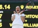 DOKÁZALA JSEM TO. Petra Kvitová otočila zápas s Venus Williamsovou a ve...