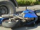 Nabouran� motorka Kawasaki. (27.6.2014)