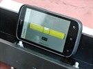 M�sto vodov�hy poslou�� mobiln� aplikace v telefonu.
