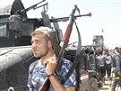 Irácké bezpečnostní díly po boji s radikály z ISIL v Dalli Abbasu (28. června...