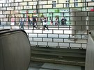 Výstup ze stanice metra Národní třída do Spálené ulice je stále ještě...