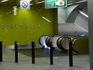 Vestibul stanice Národní třída několik dnů před otevřením po dvouleté...