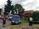 V obci Li�any na Rakovnicku bylo nalezeno oho�el� t�lo mrtv�ho mu�e (26.6.2014)