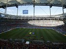 Stadion, na kter�m se konal z�pas mezi �v�carskem a Franci�