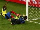 Enner Valencia se raduje z vyorvnávacího gólu na 1:1 proti Hondurasu