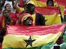 Ghanští fanoušci během zápasu s Portugalskem