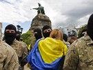 Stoupenci batalionu Azov se chystají na další misi na východě Ukrajiny (23....