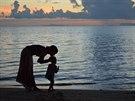 Lilia K. se svým synem