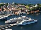 Přístav a město Bergen