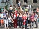 Ve Frýdku-Místku i v Klimkovicích přišly Lukáše pozdravit stovky lidí. (19....