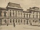 N�rodn� d�m v centru Ostravy ve dvac�t�ch letech minul�ho stolet�.
