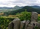 Lipská hora z vrchu Ostrý