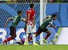 OSLAVA. Rafael Márquez se raduje z gólu na 1:0.