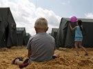 Uprchlický tábor nedaleko Rostova na Donu (22. června 2014)