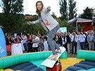 Eva Samková popularitu nesnáší, ale che ji využít k přilákání dětí ke sportu.