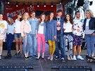Mezi modely a modelkami byli kromě Zuzany Belohorcové třeba bratr Agáty...
