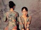 Z knihy Dějiny tetování: Pro japonské tetování horimono jsou typické velké