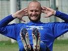 Martin Slavík na prvním tréninku fotbalistů Teplic před novou sezonou.