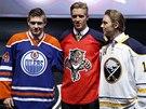 Obránce Aaron Ekblad byl draftu NHL vybrán Floridou jako číslo jedna