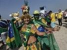 Brazilští fanoušci před osmifinále mistrovství světa