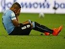 Uruguaysk� reprezentant �lvaro Pereira v osmifin�le mistrovstv� sv�ta