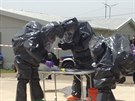 Hradečtí vědci v Gruzii nacvičovali zásah po chemickém útoku.
