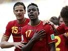 MŮŽETE MI DĚKOVAT. Belgičan Divock Origi slaví svůj gól ze samého závěru, jímž...