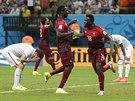 BUDE TO K NĚČEMU? Portugalec Silvestre Varela (s číslem 18) slaví svůj gól v...