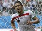 ČESTNÁ TREFA. Íránec Reza Ghúčanedžhád slaví svůj gól při prohře s Bosnou. Byla...